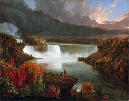 Thomas Cole | Distant View of Niagara Falls, 1830 | Giclée Canvas Print