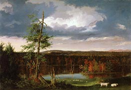 Thomas Cole | Landscape, the Seat of Mr. Featherstonhaugh in the Distance | Giclée Canvas Print