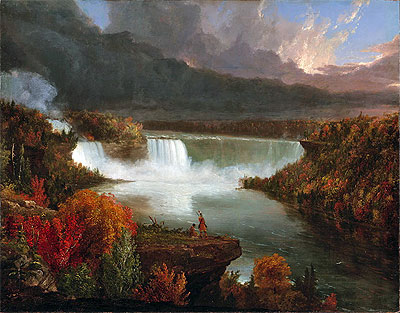 Distant View of Niagara Falls, 1830   Thomas Cole   Painting Reproduction