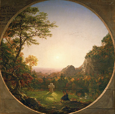 The Lonely Cross, 1845 | Thomas Cole | Giclée Canvas Print