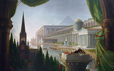 The Architect's Dream, 1840   Thomas Cole   Painting Reproduction