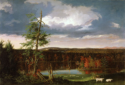 Landscape, the Seat of Mr. Featherstonhaugh in the Distance, 1826 | Thomas Cole | Giclée Canvas Print