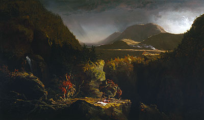 Landscape with Figures (The Last of the Mohicans), 1826 | Thomas Cole | Giclée Canvas Print
