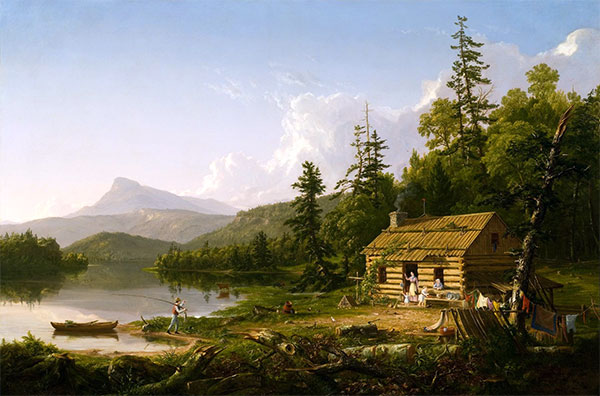 Home in the Woods, 1847 | Thomas Cole | Giclée Canvas Print