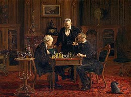 Thomas Eakins | The Chess Players | Giclée Canvas Print