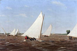 Thomas Eakins | Sailboats Racing on the Delaware | Giclée Canvas Print