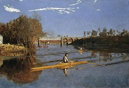 Thomas Eakins | Max Schmitt in a Single Scull | Giclée Canvas Print