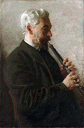 Thomas Eakins | The Oboe Player (Portrait of Dr. Benjamin Sharp), 1903 | Giclée Canvas Print