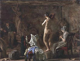 Thomas Eakins | William Rush Carving His Allegorical Figure of the Schuylkill River, c.1876/77 | Giclée Canvas Print