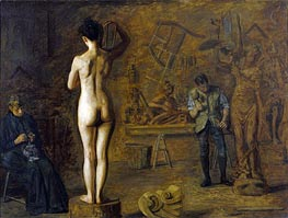 Thomas Eakins | William Rush Carving His Allegorical Figure of the Schuylkill River | Giclée Canvas Print