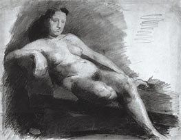Thomas Eakins | Reclining Female Nude | Giclée Canvas Print