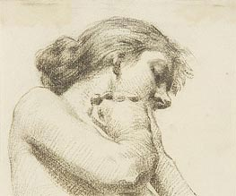 Thomas Eakins | Head and Shoulders of a Woman with Clasped Hands, undated | Giclée Paper Print