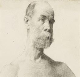 Thomas Eakins | Head and Shoulders of a Bearded Man, undated | Giclée Paper Print