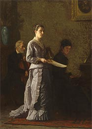 Thomas Eakins | Singing a Pathetic Song, 1881 | Giclée Canvas Print