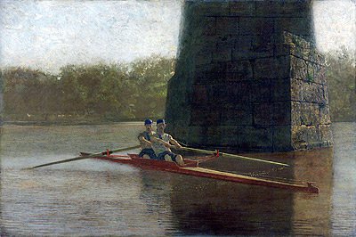 The Pair-Oared Shell, 1872 | Thomas Eakins | Painting Reproduction