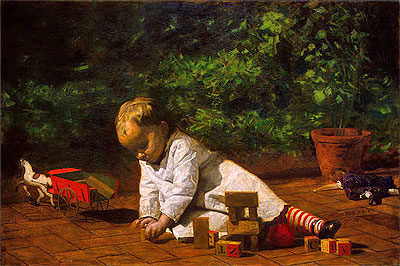 Thomas Eakins | Baby at Play, 1876 | Giclée Canvas Print