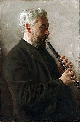 The Oboe Player (Portrait of Dr. Benjamin Sharp), 1903 | Thomas Eakins | Giclée Canvas Print