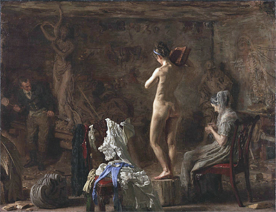 William Rush Carving His Allegorical Figure of the Schuylkill River, c.1876/77 | Thomas Eakins | Giclée Canvas Print