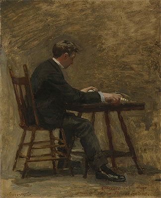 The Timer (Study For 'Between Rounds'), c.1898 | Thomas Eakins | Giclée Canvas Print
