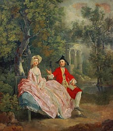 Gainsborough | Conversation in a Park (Portrait of the Artist and his Wife, Margaret Burr) | Giclée Canvas Print