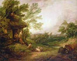 Gainsborough   Cottage Door with Girl and Pigs   Giclée Paper Print