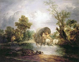 Gainsborough   A Country Cart Crossing a Ford   Giclée Paper Print