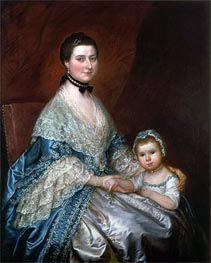 Gainsborough | Mrs. Bedingfield and her Daughter | Giclée Canvas Print