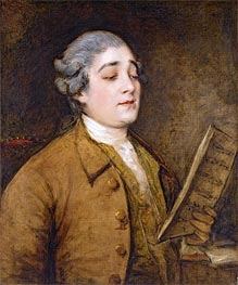 Gainsborough | Portrait of Giusto Ferdinando Tenducci, Castrato Singer and Composer | Giclée Canvas Print