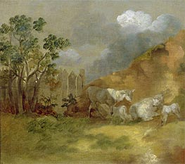 Gainsborough | Landscape with Sheep, c.1744 | Giclée Canvas Print