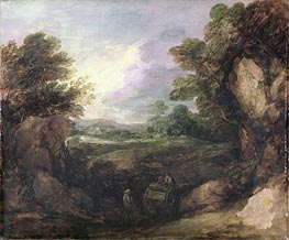 Gainsborough | Landscape with Figures, c.1786 | Giclée Canvas Print