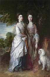 Gainsborough | The Painter's Daughters, Undated | Giclée Canvas Print