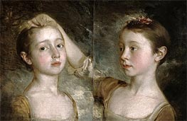 Gainsborough | The Painter's Daughters Mary and Margaret, c.1758 | Giclée Canvas Print