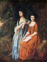 Gainsborough | The Linley Sisters (Mrs. Sheridan and Mrs. Tickell), Undated | Giclée Canvas Print
