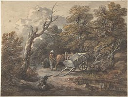 Gainsborough | Woodland Scene with a Peasant, a Horse, and a Cart, c.1760 | Giclée Paper Print