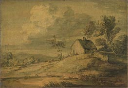 Gainsborough | Wooded Landscape with Cottage, Cows and Sheep, c.1770 | Giclée Paper Print