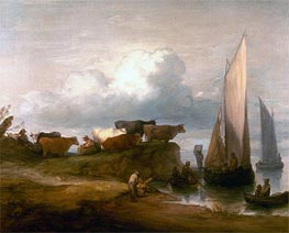 Gainsborough | A Coastal Landscape | Giclée Canvas Print