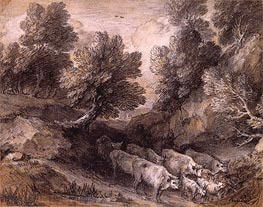 Gainsborough | Wooded Landscape with Cattle and Goats | Giclée Canvas Print