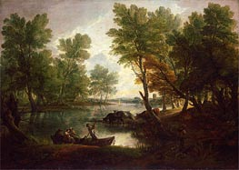 Gainsborough | View near King's Bromley, on Trent, Staffordshire, c.1768/70 | Giclée Canvas Print