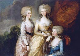 Gainsborough | The Three Eldest Princesses: Charlotte, Princess Royal, Augusta and Elizabeth | Giclée Canvas Print