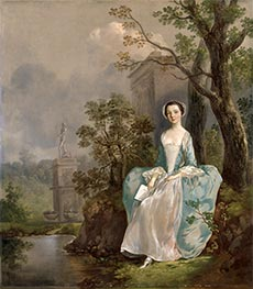 Gainsborough | Girl with a Book Seated in a Park, c.1750 | Giclée Canvas Print