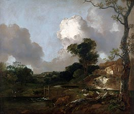 Gainsborough | Landscape with Stream and Weir, c.1750/53 | Giclée Canvas Print