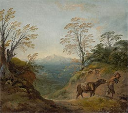 Gainsborough | Wooded Landscape with a Boy Leading a Donkey, c.1760/1765 | Giclée Canvas Print
