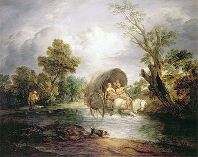 A Country Cart Crossing a Ford, c.1786 | Gainsborough | Giclée Canvas Print