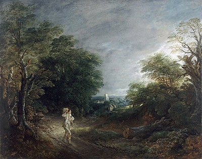 Wooded Landscape with a Woodcutter, c.1762/63 | Gainsborough | Giclée Canvas Print