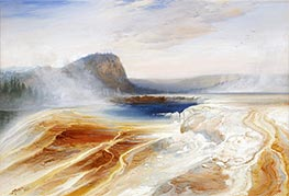Thomas Moran | Lower Geyser Basin | Giclée Canvas Print