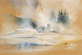 Thomas Moran | The Grotto Geyser, Firehole Basin | Giclée Canvas Print