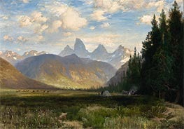 Thomas Moran | The Three Tetons | Giclée Canvas Print