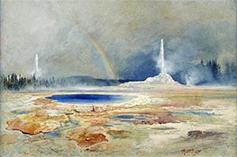 Thomas Moran | The Castle Geyser, Fire Hole Basin | Giclée Canvas Print