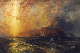 Thomas Moran | Fiercely the Red Sun Descending, undated | Giclée Canvas Print