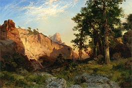 Thomas Moran | Coconino Pines and Cliff, Arizona, 1902 | Giclée Canvas Print